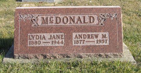MCDONALD, LYDIA JANE - Hamilton County, Iowa | LYDIA JANE MCDONALD
