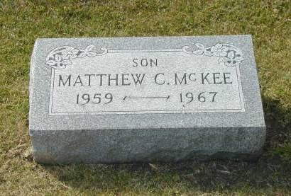 MCKEE, MATTHEW CHARLES - Hamilton County, Iowa   MATTHEW CHARLES MCKEE