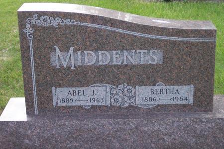 MIDDENTS, BERTHA - Hamilton County, Iowa | BERTHA MIDDENTS