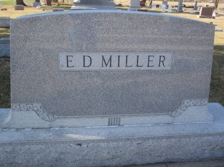 MILLER, E. D. FAMILY STONE - Hamilton County, Iowa | E. D. FAMILY STONE MILLER