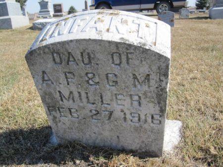 MILLER, INFANT DAUGHTER - Hamilton County, Iowa   INFANT DAUGHTER MILLER