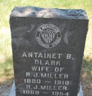 MILLER, ANTAINET B. - Hamilton County, Iowa   ANTAINET B. MILLER