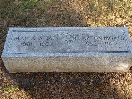 WELCH MOATS, MAY - Hamilton County, Iowa   MAY WELCH MOATS