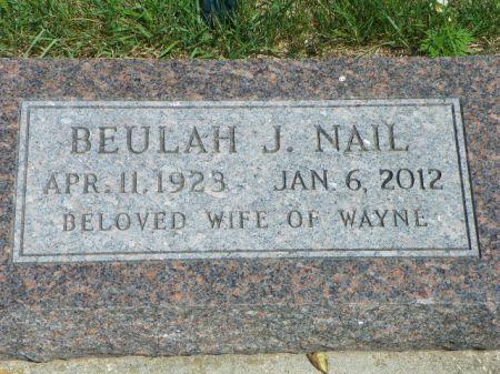 NAIL, BEULAH J - Hamilton County, Iowa   BEULAH J NAIL