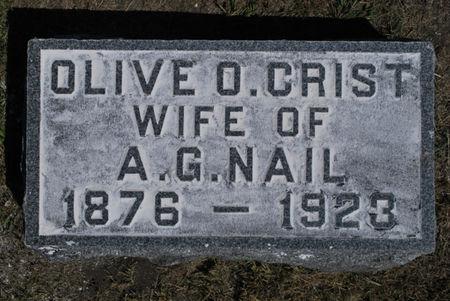 CRIST NAIL, OLIVE O. - Hamilton County, Iowa | OLIVE O. CRIST NAIL