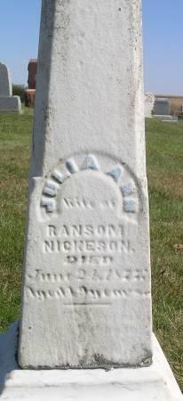 NICKESON, JULIA ANN - Hamilton County, Iowa   JULIA ANN NICKESON