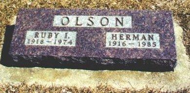 HOBBS OLSON, RUBY I. - Hamilton County, Iowa   RUBY I. HOBBS OLSON