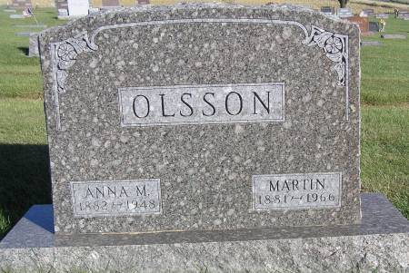 SANDAL OLSSON, ANNA M. - Hamilton County, Iowa | ANNA M. SANDAL OLSSON