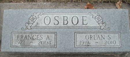 PASSWATERS OSBOE, FRANCES ARLENE - Hamilton County, Iowa   FRANCES ARLENE PASSWATERS OSBOE