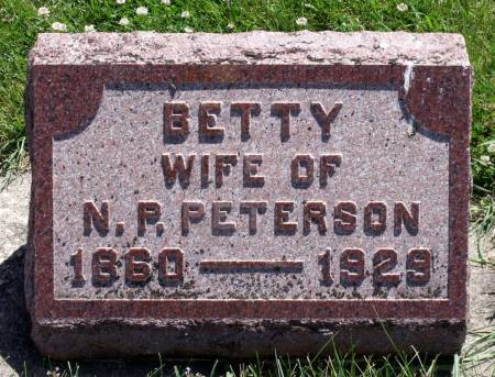 PETERSON, BETTY - Hamilton County, Iowa   BETTY PETERSON