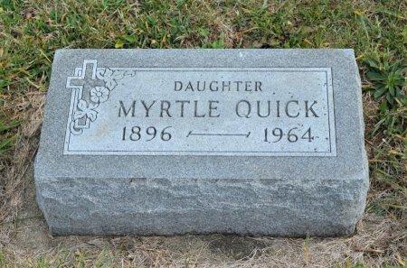 QUICK, MYRTLE - Hamilton County, Iowa   MYRTLE QUICK