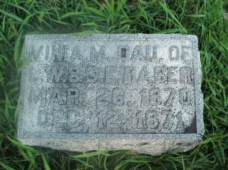 RABER, VINIA M. - Hamilton County, Iowa   VINIA M. RABER