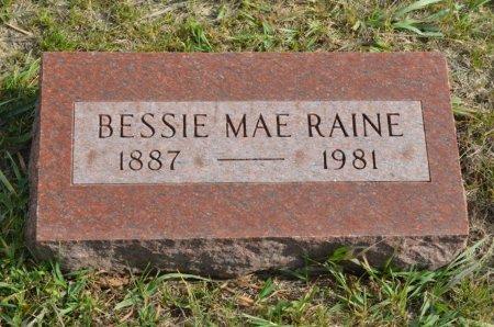 PETERSON RAINE, BESSIE MAE - Hamilton County, Iowa | BESSIE MAE PETERSON RAINE