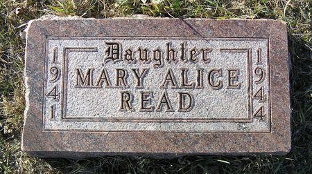 READ, MARY ALICE - Hamilton County, Iowa   MARY ALICE READ