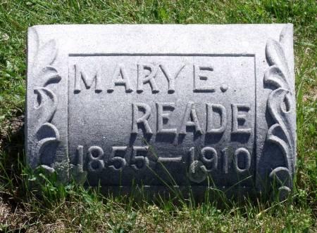 READE, MARY E. - Hamilton County, Iowa   MARY E. READE