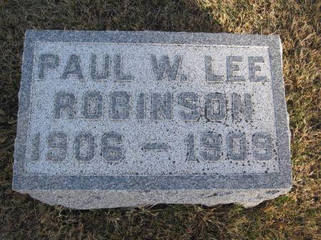 ROBINSON, PAUL W. LEE - Hamilton County, Iowa | PAUL W. LEE ROBINSON