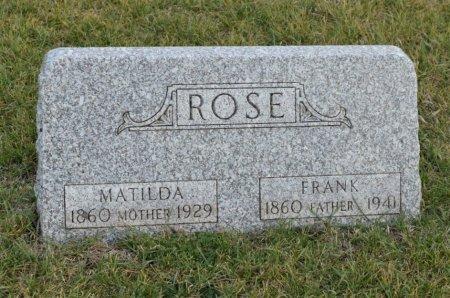 QUICK ROSE, MATILDA - Hamilton County, Iowa   MATILDA QUICK ROSE