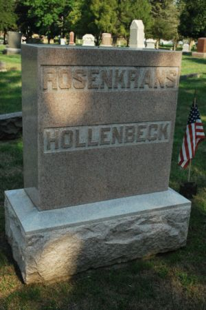 ROSENKRANS - HOLLENBECK, FAMILY STONE - Hamilton County, Iowa   FAMILY STONE ROSENKRANS - HOLLENBECK