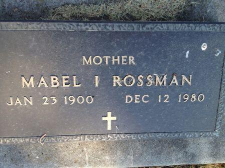 ROSSMAN, MABEL I. - Hamilton County, Iowa | MABEL I. ROSSMAN
