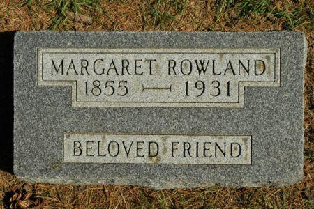 ROWLAND, MARGARET - Hamilton County, Iowa   MARGARET ROWLAND