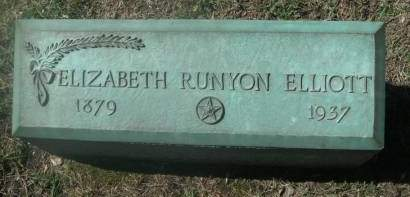 BALSLEY RUNYON ELLIOTT, ELIZABETH - Hamilton County, Iowa   ELIZABETH BALSLEY RUNYON ELLIOTT