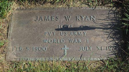 RYAN, JAMES W. - Hamilton County, Iowa   JAMES W. RYAN