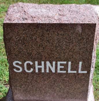SCHNELL, FAMILY STONE - Hamilton County, Iowa   FAMILY STONE SCHNELL