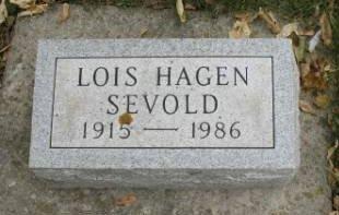 HAGEN SEVOLD, LOIS - Hamilton County, Iowa   LOIS HAGEN SEVOLD