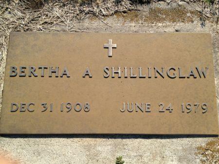 SHILLINGLAW, BERTHA A. - Hamilton County, Iowa   BERTHA A. SHILLINGLAW