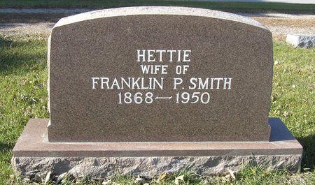 SMITH, HETTIE - Hamilton County, Iowa | HETTIE SMITH