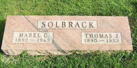 THORSBAKKEN SOLBRACK, MABEL C. - Hamilton County, Iowa   MABEL C. THORSBAKKEN SOLBRACK