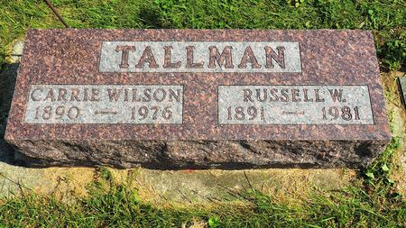 WILSON TALLMAN, CARRIE - Hamilton County, Iowa   CARRIE WILSON TALLMAN