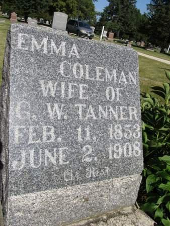 TANNER, EMMA - Hamilton County, Iowa   EMMA TANNER