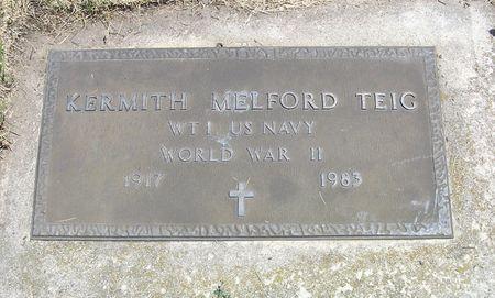 TEIG, KERMITH MELFORD - Hamilton County, Iowa   KERMITH MELFORD TEIG