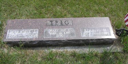 TEIG, MARJORIE J. - Hamilton County, Iowa   MARJORIE J. TEIG