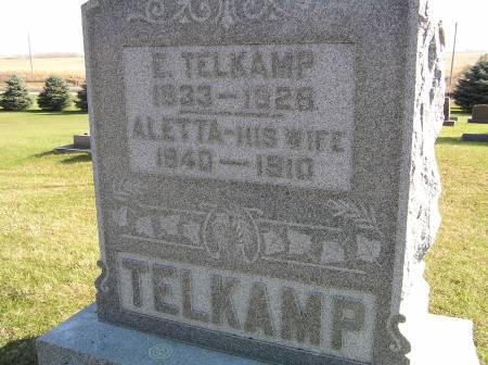 TELKAMP, ALETTA - Hamilton County, Iowa | ALETTA TELKAMP