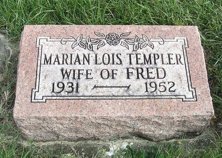 TEMPLER, MARIAN LOIS - Hamilton County, Iowa | MARIAN LOIS TEMPLER
