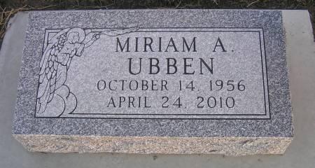 UBBEN, MIRIAM A. - Hamilton County, Iowa | MIRIAM A. UBBEN
