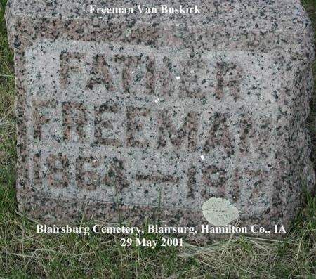 VAN BUSKIRK, FREEMAN - Hamilton County, Iowa   FREEMAN VAN BUSKIRK