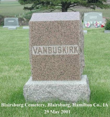 VAN BUSKIRK, FAMILY STONE - Hamilton County, Iowa | FAMILY STONE VAN BUSKIRK