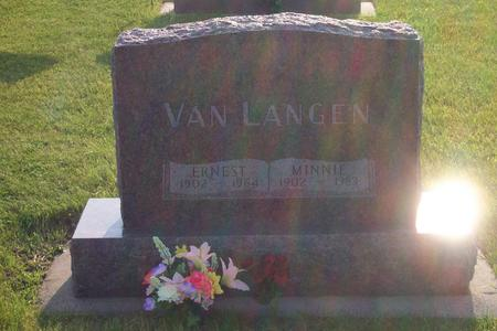 VAN LANGEN, MINNIE - Hamilton County, Iowa | MINNIE VAN LANGEN