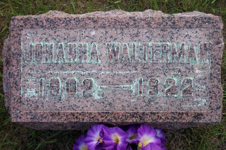 WALTERMAN, JOHANNA - Hamilton County, Iowa | JOHANNA WALTERMAN