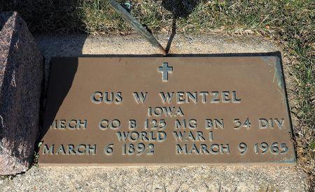 WENTZEL, GUS W. - Hamilton County, Iowa   GUS W. WENTZEL