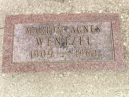 WENTZEL, MARION AGNES - Hamilton County, Iowa   MARION AGNES WENTZEL