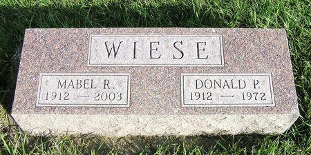 WIESE, DONALD P. - Hamilton County, Iowa | DONALD P. WIESE