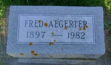 AEGERTER, FRED - Hancock County, Iowa | FRED AEGERTER