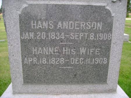 ANDERSON, HANNE - Hancock County, Iowa   HANNE ANDERSON