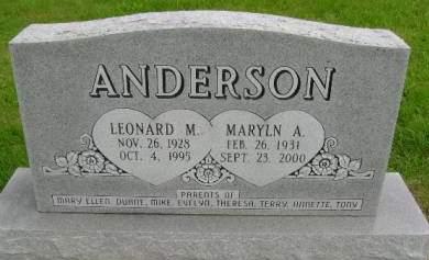 ANDERSON, MARYLN A - Hancock County, Iowa | MARYLN A ANDERSON