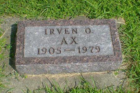 AX, IRVEN O - Hancock County, Iowa | IRVEN O AX