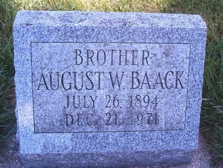 BAACK, AUGUST W - Hancock County, Iowa | AUGUST W BAACK